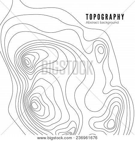 Topographic Map Contour Background Pattern. Contour Landscape Map Concept.  Abstract Geographic Worl