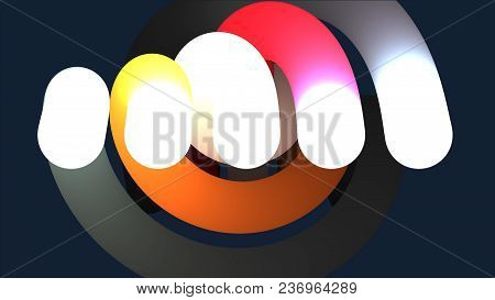 Abstract 3d Lines. Abstract Background With Animation Moving Of Lines. Abstract Background With Anim