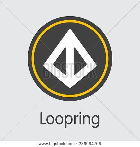 Loopring - Pictogram Of Fintech Industry, Finance Digitization. Modern Colored Logo. Premium Quality