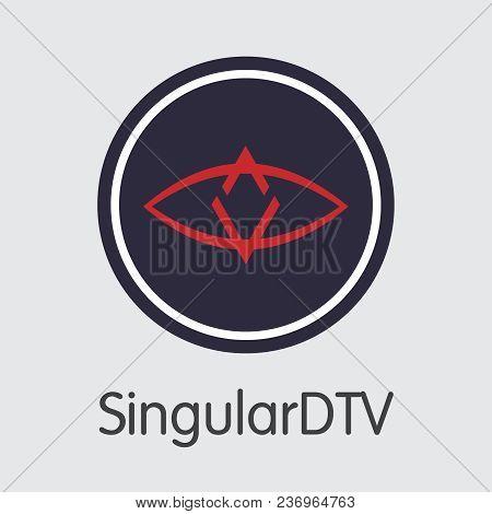 Singulardtv Vector Coin Illustration For Internet Money. Blockchain Cryptocurrency Coin Symbol Of Sn