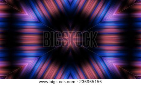 Abstract Animation With Hand Drawn Geometric Kaleidoscope Pattern. Abstract Cgi Motion Graphics And