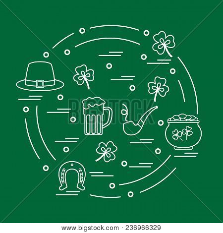 Different Symbols For St Patrick's Day Arranged In