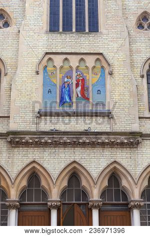 Roman Catholic Church Of Our Lady Queen Of Heaven , Facade, London, United Kingdom. It Was Founded I