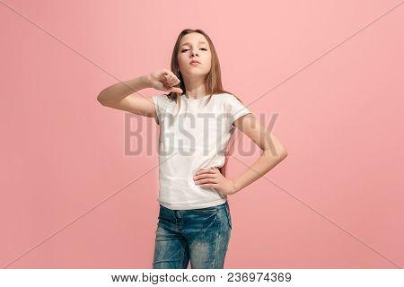Young Serious Thoughtful Sad Teen Girl