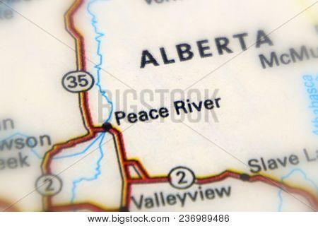 Peace River, Alberta Province, Canada (selective Focus)