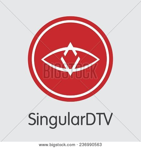 Blockchain Cryptocurrency Singulardtv. Net Banking And Sng Mining Vector Concept. Crypto Currency Mi