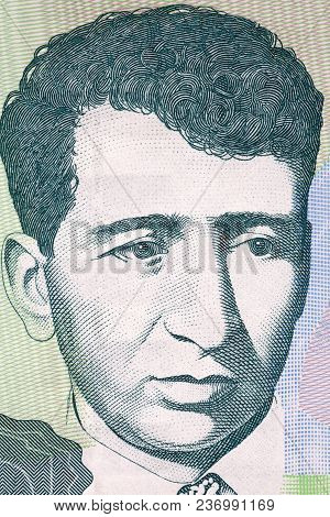 Yeghishe Charents Portrait From Armenian Money - Dram