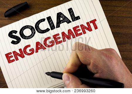 Conceptual Hand Writing Showing Social Engagement. Business Photo Showcasing Post Gets High Reach Li