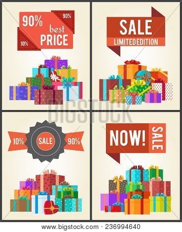 90 Best Price Limited Edition Total Sale Shop Now Set Of Posters With Advertisement Labels And Mount