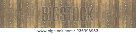 Panoramic wood panel in vintage style. Natural background.