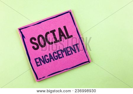 Text Sign Showing Social Engagement. Conceptual Photo Post Gets High Reach Likes Ads Seo Advertising