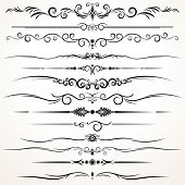 Collection of Ornamental Rule Lines in Different Design styles poster