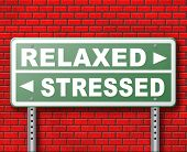 stress therapy and management helps in relaxation reduce tension and relief negativity become relaxed not stressed reduction of negative vibes distressing trough meditation and concentration 3D, illus poster