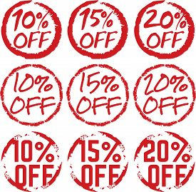 Assorted Grunge Discount Retail Label Badge Stickers