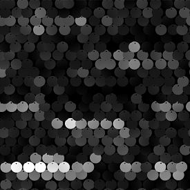 Seamless black texture of fabric with sequins - raster version