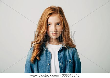 The Red-haired Teen Girl Is Very Offended By Her Parents. The Blue-eyed Cutie Is Upset. She Is Angry