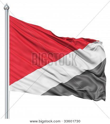 Waving flag of Sealand