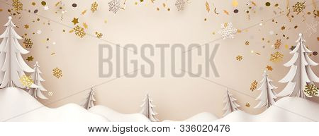 Winter Background, Winter Banner, Winter Abstract, Happy New Year 2020, Winter Snow, Winter 3d, Pine