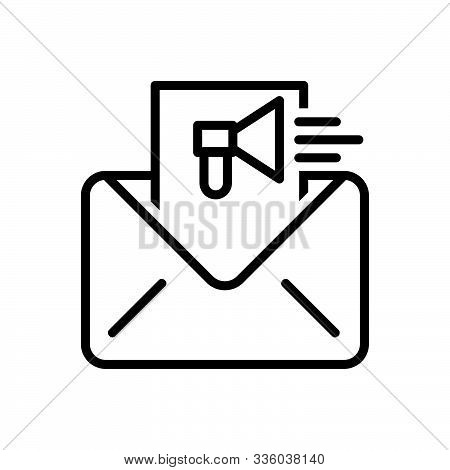 Black Line Icon For  Email-marketing Email Marketing Online Publicity Promotion Strategy