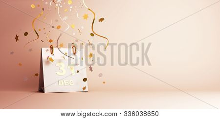Happy New Year 2020, New Year Greeting Card, New Year Background, New Year Banner, New Year 3d, Dece