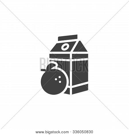 Orange Juice Package Vector Icon. Filled Flat Sign For Mobile Concept And Web Design. Orange Nectar