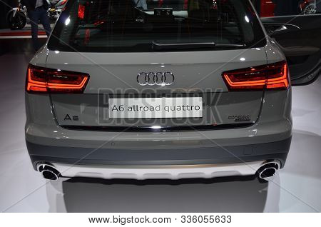 Frankfurt, Germany, September 13-2017: Audi A6 Allroad Quattro At Iaa 2017