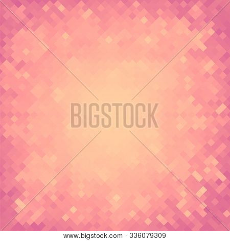 Pink Pixel Background. Pixelated Square Pattern. Pixelated Texture. Abstract Mosaic Modern Design.