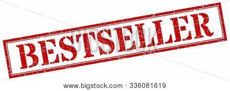 Bestseller Stamp. Bestseller Square Grunge Sign. Bestseller