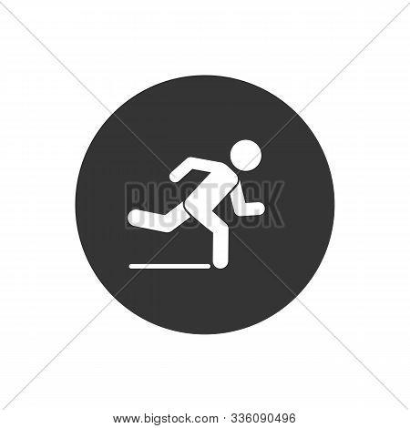 Runner Icon. Logo Element Illustration. Runner Symbol Design. Colored Collection. Runner Concept. Ca