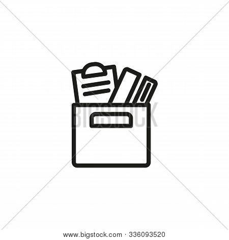 Redundancy Thin Line Icon. Fired, Stuff, Box Isolated Outline Sign. Discrimination Concept. Vector I