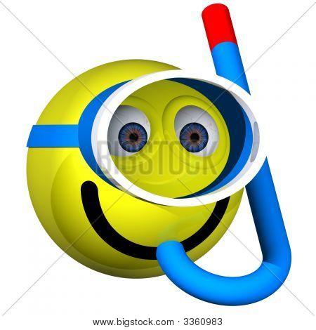 Smiley Snorkeler