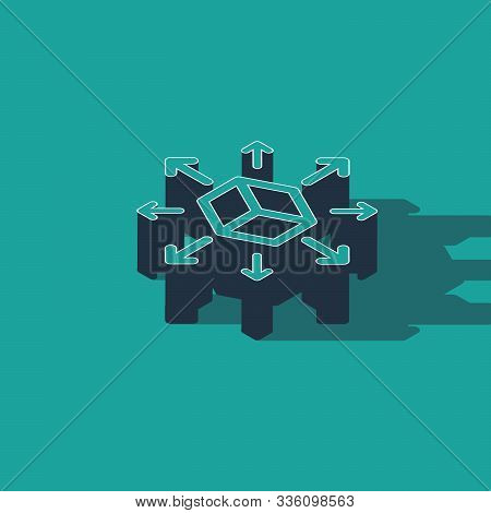 Isometric Distribution Icon Isolated On Green Background. Content Distribution Concept. Vector Illus