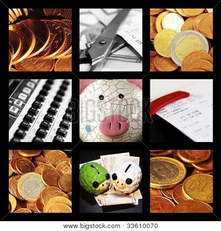Collage Of Currencies And Financial Reasons