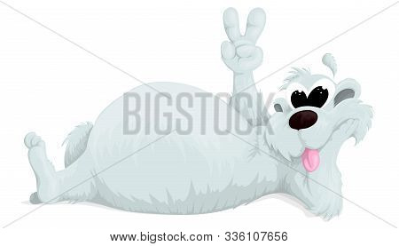 Bear Vectorcartoon Polar Animal, Cute Polar Bear On White Background. Item For Your Design. Vector I