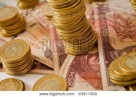a lot of mexican pesos money