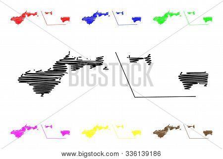 American Samoa (unincorporated And Unorganized U.s. Territory, United States Of America) Map Vector