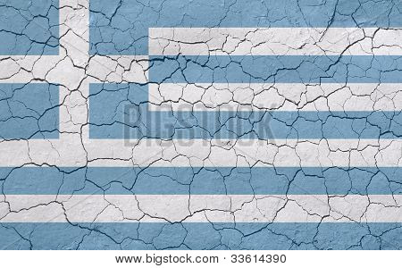 Faded and Cracked Greek Flag