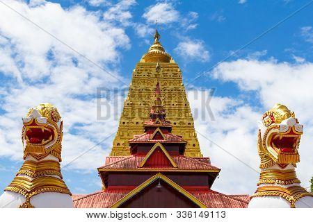 Bodh Gaya Mahabodhi Temple , Kanjanaburi - Thailand
