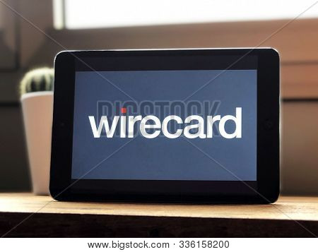 September 2019 Los Angeles: Wirecard Company Logo On Tablet Screen
