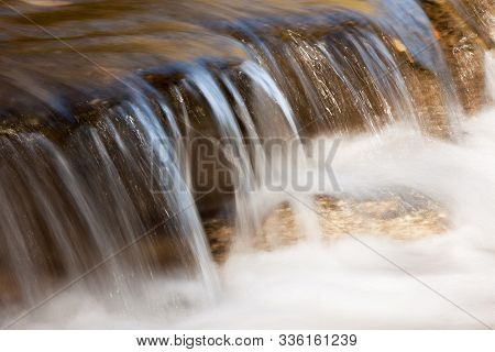 Clear Running Water Clean Running Waterfall Water Blurred By Motion