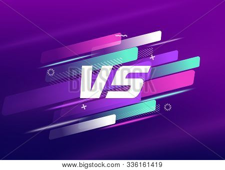 Versus Logo Vs Letters For Sports And Fight Competition, Mma, Ufs, Battle, Vs Match, Game Concept Co
