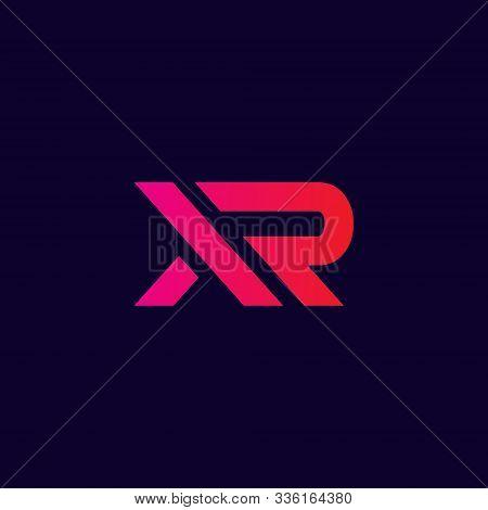 Xr Logo. Creative Xr Letter Logo, Modern Xr Vector Logo . Xr Logo Design Isolated On Dark Background