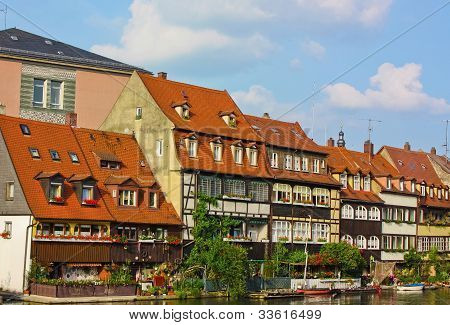 Picturesque Fishermen's Cottages In Bamberg,bavaria,germany