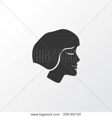 Short Hairstyle Icon Symbol. Premium Quality Isolated Hairdo Element In Trendy Style.