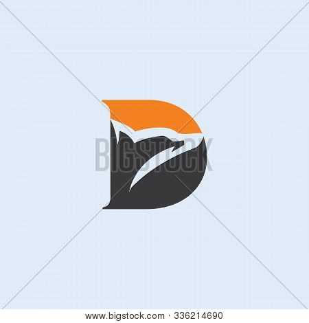 Letter D Abstract Logo Design With Dolphin. Letter D, D Logo, Dolphin Logo.