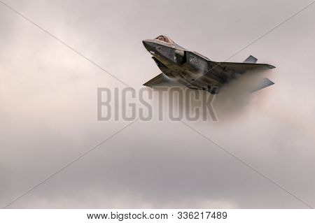 New Windsor, Ny - August 2, 2019: The Lockheed Martin F-35 Lightning Ii From Stewart International A