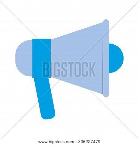 Megaphone Icon Design, Amplifer Speaker Bullhorn Announce Speech Message Communication And Sound The
