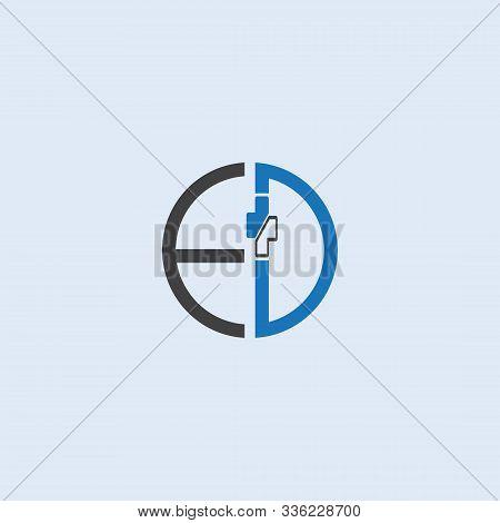 Medical Circle Ed Letter Logo Design Vector Template. Medical Letter Ed Logo Vector Template.