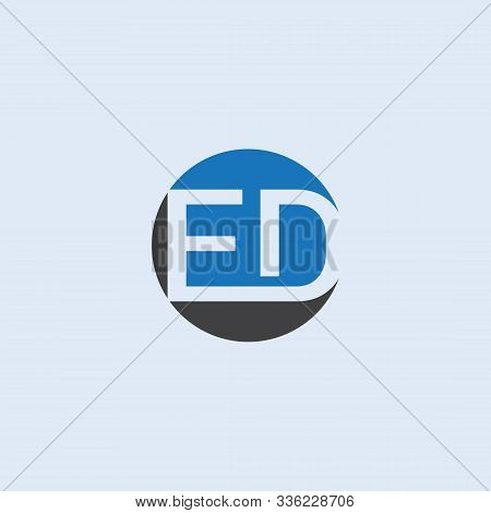 Initial Ed Letter Logo With Wave. Letter Ed Creative Modern Alphabet Logo Vector Design. Abstract  E