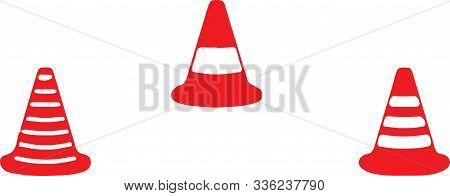 Traffic Cone Icon On Color Background Symbol, Traffic, Traffic Cone